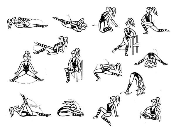 Упражнения на растяжку тазобедренный сустав мухомор против суставных болей